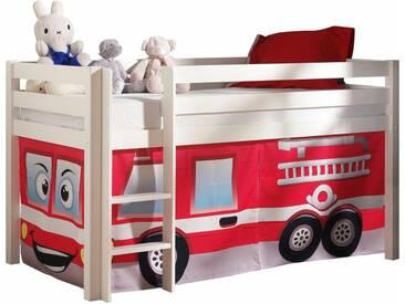 Vipack Hochbett, Furniture, bunt, Weiß lackiert, Feuerwehr