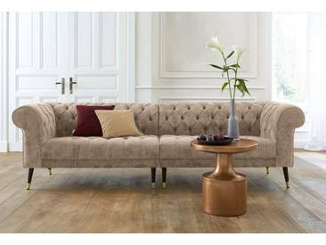 Guido Maria Kretschmer Home&Living GMK Home & Living Chesterfield Big-Sofa »Tinnum«, natur, beige