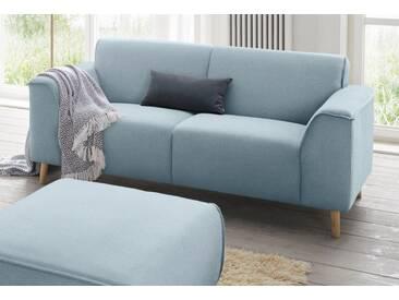 andas 2-Sitzer »Janek« mit Federkern und Keder in scandinavischem Design, blau, lichtblau