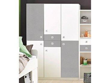 Wimex Kleiderschrank »Sunny«, grau, Breite 135 cm, 6-türig, weiß/betonfarben lichtgrau