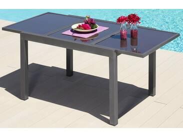 MERXX Gartentisch »Amalfi«, Aluminium, ausziehbar, grau, 120/180 cm x 90 cm, anthrazit