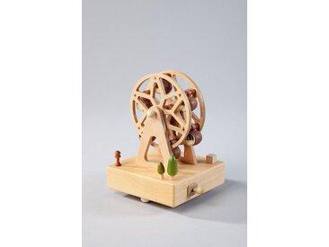 HGD Holz-Glas-Design Spieluhr Riesenrad aus Echtholz, natur, Natur