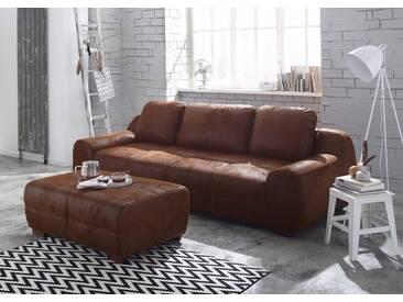 Home affaire Big-Sofa »Banderas« auch mit Bettfunktion, braun, ohne Bettfunktion, schoko