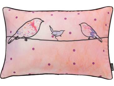 emotion textiles Kissenhülle »Crazy Birds«, rosa, Polyester, pink