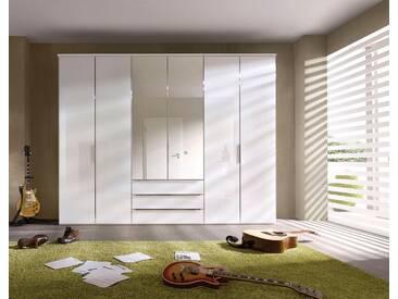 nolte® Möbel Drehtürenschrank »Horizont 10500«, mit Glasfronten und Schubkasteneinsatz, weiß, Breite 300 cm, Polarweiß/Weißglas & Spiegel