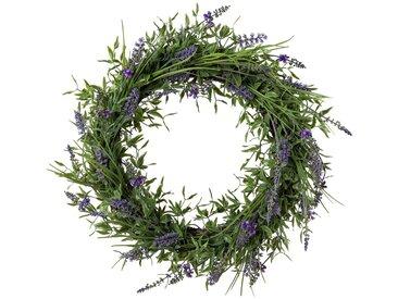 Gasper Kunstpflanze »Lavendelkranz«, Ø: 50 cm, lila, lila