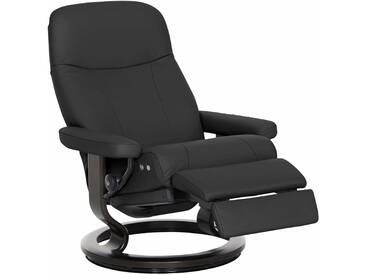 Stressless® Relaxsessel »Garda« mit Classic Base und LegComfort™, Größe M, mit Schlaffunktion, schwarz, Fuß wengefarben, dark black