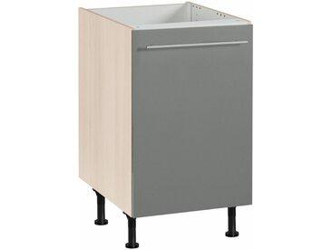OPTIFIT Spülenschrank »Bern«, Breite 50 cm, grau, basaltgrau/akaziefarben