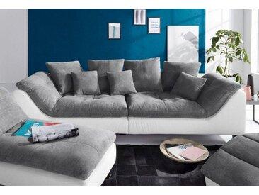 Bruno Banani Big-Sofa, inklusive Rückenkissen & Zierkissen, weiß, 287 cm, altweiß/stone