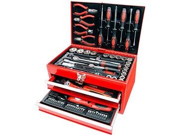 Brüder Mannesmann Werkzeuge Brueder Mannesmann Werkzeuge Werkzeugbox »155-tlg.«, rot, rot