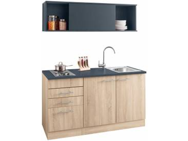 Miniküche 1 M Mit Kühlschrank : Miniküche mk eswc weiss mit kühlschrank