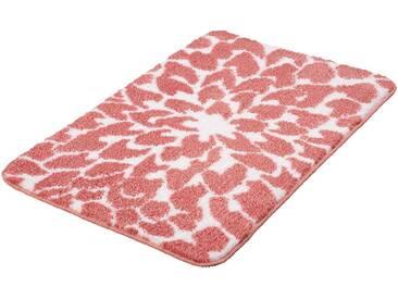 MEUSCH Badematte »Dahlia« , Höhe 12 mm, fußbodenheizungsgeeignet, rutschhemmender Rücken, rosa, 12 mm, rosé