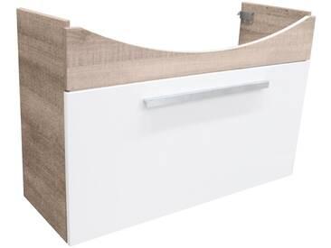 FACKELMANN Waschtischunterbau »A-Vero«, Breite 98,5 cm, weiß, eichefarben grau/weiß
