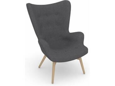 Max Winzer® build-a-chair Hochlehner Stuhlsessel »Arne« im Retrolook, zum Selbstgestalten, grau, Korpus: Flachgewebe 16452 grau