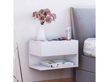 VCM Wand - Nachttisch Dormal, weiß, Weiß