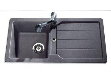 Schock SCHOCK Kunststoffspüle »Domostonespüle Basic«, 86 x 43,5 cm, grau, ohne Restebecken, anthrazit