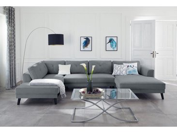 Guido Maria Kretschmer Home&Living Wohnlandschaft »Bilge«, grau, 360 cm, Ottomane links, grau