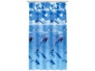 Kleine Wolke KLEINE WOLKE Duschvorhang »Delfin«, Breite 180 cm, blau, blau