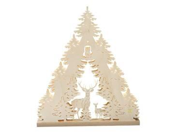 SAICO Original 3D-Lichterspitze Waldmotiv, natur, Natur