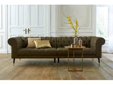 Guido Maria Kretschmer Home&Living GMK Home & Living Chesterfield Big-Sofa »Tinnum«, grün, olive