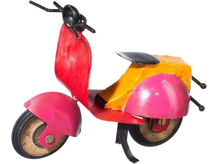 Metall Deko Motorrad »SCOOTER« (2er Set), bunt,...