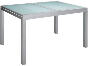 MERXX Gartentisch »Lima«, Aluminium, ausziehbar, silber, silberfarben, 180-240 cm x 100 cm, silberfarben