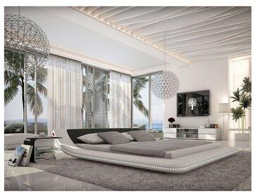Innocent Designer Bett Kunstleder mit LED Beleuchtung Custo, 200x220 cm