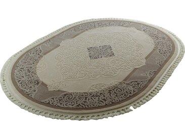 Sanat Teppiche Orientteppich »Delüks 6826«, oval, Höhe 14 mm, natur, 14 mm, beige