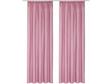 Home affaire Vorhang »Leticia«, Kräuselband (2 Stück), rosa, Kräuselband, halbtransparent, rosé