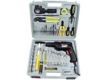 Brüder Mannesmann Werkzeuge Brueder Mannesmann Werkzeuge Werkzeugkoffer »75-tlg. mit Bohrmaschine«, grau, grau
