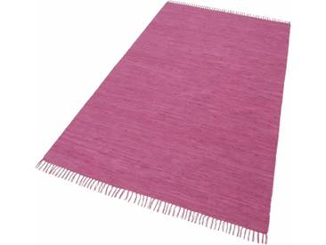 THEKO Teppich »Happy Cotton«, rechteckig, Höhe 5 mm, beidseitig verwendbar, rot, 5 mm, beere