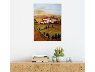 Posterlounge Wandbild - Christine Huwer »Sonnenaufgang in der Toskana«, bunt, Alu-Dibond, 120 x 160 cm, bunt