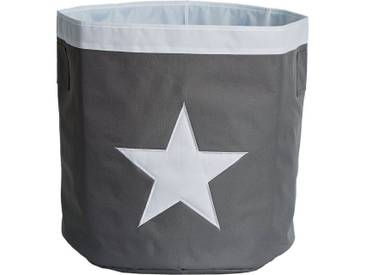 STORE IT! Aufbewahrungskorb, Maxi, grau mit weißem Stern, grau, grau