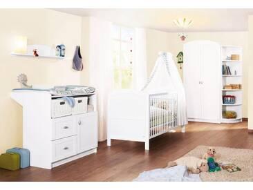 Pinolino® Pinolino Babyzimmer Set (3-tlg) Kinderzimmer, »Laura«, weiß, weiß