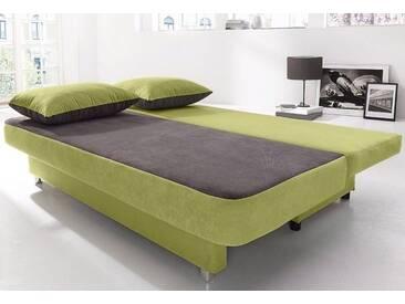COLLECTION AB Schlafsofa, grün, 187 cm, grün/grau