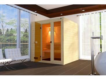weka WEKA Sauna »Lars Trend 2«, 187x187x203,5cm, 38 mm, 7,5-KW-Ofen, natur, 7,5-kW-Ofen mit externer Steuerung, natur