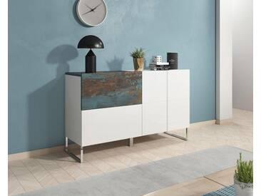 Sideboard »Patch«, Breite 130 cm, weiß, weiss-vintage bunt/weiss Hochglanz-vintage bunt