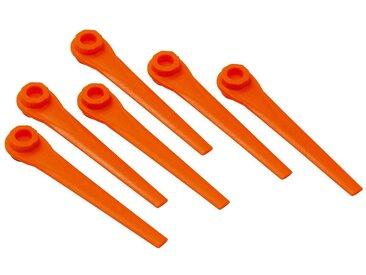 GARDENA Ersatzmesser »05368-20«, 20 Messer für Turbotrimmer, rot, rot