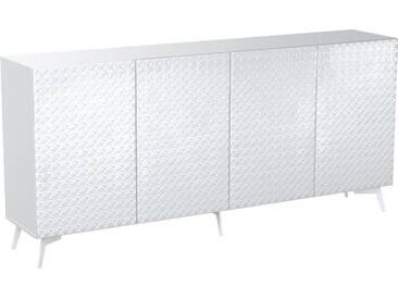 Bruno Banani bruno banani Sideboard »Design 5«, mit 3D-Fronten in Hochglanz, in zwei Breiten, weiß, 4 Türen (211/42/97 cm), weiß Hochglanz