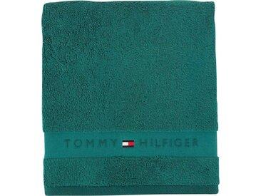 TOMMY HILFIGER Gästehandtücher »Frotteeuni«, in vielen Farben erhältlich, grün, Walkfrottee, evergreen