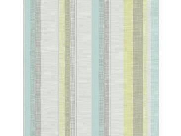 SCHÖNER WOHNEN-KOLLEKTION Vliestapete, P+S, »Streifen Tapete«, bunt, blau-grün-weiß