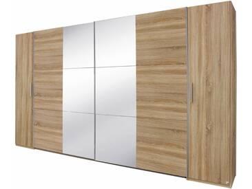 rauch PACK´S Dreh-/Schwebetürenschrank »Kronach«, mit Spiegel, natur, Breite 355 cm, 4-türig, mit Spiegel, mit Aufbauservice, mit Aufbauservice
