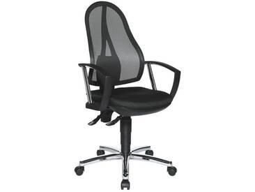 TOPSTAR Bürostuhl mit Armlehnen »Open Point P Plus«, schwarz, schwarz