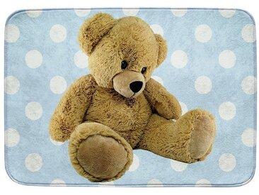 Kinderteppich Ultrasoft Teddybär, blau, 70 x 95 cm, blau, blau