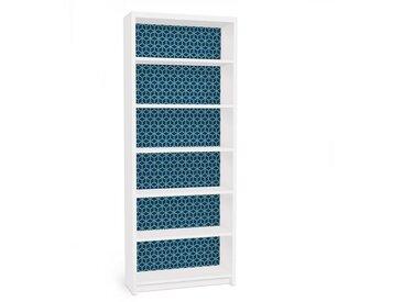 Bilderwelten Möbelfolie für IKEA Billy Regal »Würfelmuster blau«, bunt, Farbig