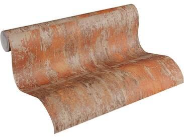 living walls Vliestapete »Bude 2.0«, gemustert, glänzend, FSC®, RAL-Gütezeichen, schwer entflammbar nach DIN 4102, bunt, rostbraun-orange-hellbraun
