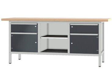 PADOR Werkbank »31 S 252/20 R«, Höhe: 85,5 cm, grau, hellgrau/anthrazit