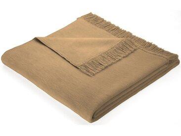 BIEDERLACK Sofaläufer »Cotton Cover«, mit Fransen versehen, natur, camelfarben