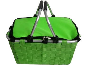 Franz Müller Flechtwaren Klappbox, Thermotasche mit Reißverschluss, grün, grün