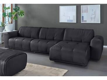 NATUZZI EDITIONS Polsterecke »Alessio« in zwei Lederqualitäten, schwarz, Recamiere rechts, black